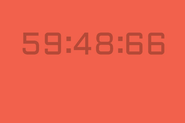 count down clock using css3
