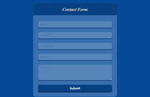 Fancy Contact Form Using Html And Css