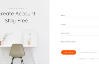 Fancy Sign-up Form Using css3