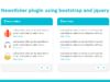 Newsticker plugin using bootstrap and jquery