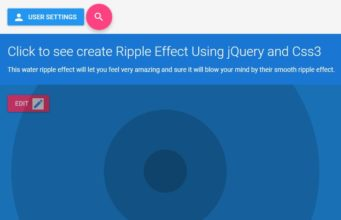 Create Ripple Effect Using jQuery and Css3