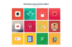 direction aware hover effect