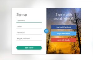 sign up form in html