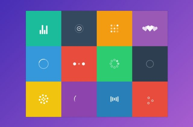 beautiful svg loader and spinner animation using css3